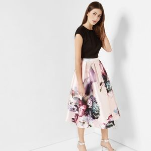Floral Skirt Dress NWT size 1=2/4